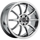 16x7 Chrome Vision Venom Wheels 5x110 +38 Fits Saturn Astra Aura L300