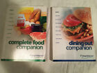 9 03 WEIGHT WATCHERS 2003 edition COMPLETE FOOD Flex Points DINING OUT Lot of 2