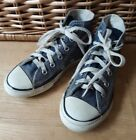 Converse Size 12 blue high top sneakers girls boys