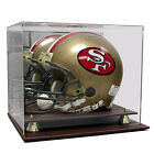 Saf-T-Gard Deluxe Acrylic Leather Base FS Football Helmet Display Case - AS0318
