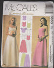 Women's Two Piece Evening Dtess Strapless or Straps  Sewing  Pattern Sz 12-18