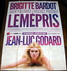 CONTEMPT Brigitte Bardot Nouvelle vague Jean Luc Godard LARGE French POSTER