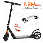 Folding Aluminum Kick Scooter 2 Wheels Adjustable Height for Youth Kid Adult