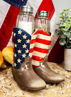 Patriotic Stars N Stripes American Flag Boots Salt And Pepper Shaker Set Statue