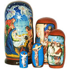Nativity  life of Christ hand painted l RUSSIAN NESTING DOLL 5 PCS 7inches