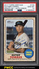 2017 Topps Heritage Minor League Gleyber Torres ROOKIE RC AUTO 50 PSA 10 (PWCC)