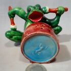 Vintage Frog Playing a Drum SP Shakers
