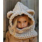 Winter Children Cute Little Bear Hats Girls Dual Use Knit Woolen Hats Scarves