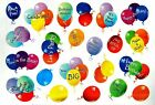 COLORFUL BIRTHDAY BALLOONS SAYINGS STICKERS SEALS Acid Free USA MADE 15