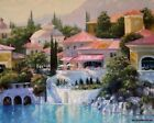 HOWARD BEHRENS - LAGO BELLAGIO - ARTIST EMBELLISHED CANVAS - FINAL CLOSE OUT!!