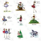 UPTOWN GIRL HOLIDAY Stamping Bella Cling Rubber Stamp Stamping Craft Christmas