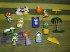 Veggie Tales toy lot plastic figure lot characters Nativity Christmas set