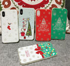Best Gift Christmas Xmas Pattern Golw Soft Phone Case For iPhone 6 6S 7 8 Plus X