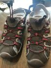 Girls Gray Sneaker Sandals Size 4