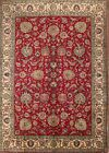 Spectacular All-Over Pattern Tebriz Persian Floral Red Area Rug Oriental 8x11ft