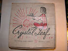 4 cups crystal leaf clear Orig Box MCM