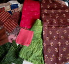 1800'S CALICO~MADDER BROWN~GREEN~BLUE~ Sawtooth Quilt Block SQUARES