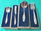 AMBASSADOR Hostess Set 4 Serving Pcs in Orig Gift Boxes 1919 Silverplate Rogers