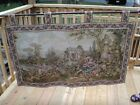 Victorian  Courting Couple Children  Sheep Tapestry Wall Hanging