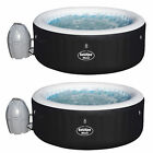 Bestway SaluSpa 71 x 26 Inch Inflatable Portable 4 Person Spa Hot Tub 2 Pack