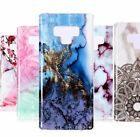 For Samsung Galaxy Note 9 TPU Rubber Phone Case Cover Marble Stone Patterns