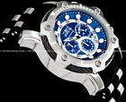 Invicta Mens Bolt Quartz Chronograph Blue Dial SS Silver Case Strap Watch 26750