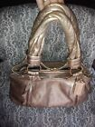 Coach L0893 13468 Rose Gold Leather Parker with Kiss Lock center closure