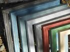 Thin Colorful Barn Wood Picture Frames Handmade Distressed Many Sizes Colors