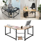 L Shaped Corner Computer Desk Home Office Study Laptop PC Work Table