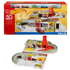 Hot Wheels Throwback Sto  Go Playset Nostalgic Retro Collectors Portable Folds