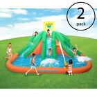 Kahuna Triple Monster Big Inflatable Backyard Slide Water Park w Slide 2 Pack