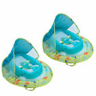 SwimWays Fabric Infant Baby Spring Swimming Pool Float with Canopy 2 Pack