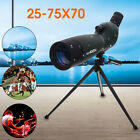 25 75X70 Precision Zoom Telescope Monocular Spotting Scope Waterproof + Tripod