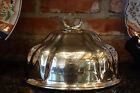 Antique English Sheffield old Silverplate Turkey Meat Dome Food Cover w Dragon