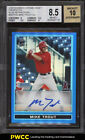 2009 Bowman Chrome Blue Refractor Mike Trout ROOKIE RC AUTO 150 BGS 8.5 (PWCC)