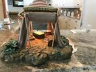 Fontanini Lighted Gold Kings Tent Retired 1996 For 5 Nativity King