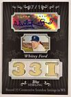 2008 Topps Sterling Stats Triple Relic YANKEES Autograph WHITEY FORD Auto 7 10