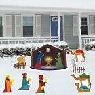 VictoryStore Yard Sign Outdoor Lawn Decorations Nativity Scene Christmas