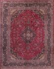 Antique Traditional Floral Kashmar Persian Oriental Area Rug Wool 12' 7