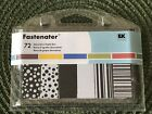 Ek Success Fastenater 72 Decorative Staple Bars Black and White