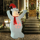 6 Inflatable Bear Yelling Airblown Holiday Yard Outdoor Christmas Decorations