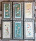6 VINTAGE CHINESE DUN HUANG BEIJING SILK EMBROIDERY PANEL WALL HANGING PICTURES