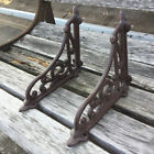 2 X ORNAMENTAL SHELF BRACKET BRACE Vintage Rustic Antique Brown Cast Iron CJ001
