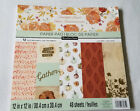 RECOLLECTIONS Scrapbook Paper Pad Thankful Heart 48 Sheets 12x12 Autumn Fall