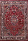 Vintage Traditional Floral Kashmar Persian Oriental Handmade Area Rug Wool 10x13