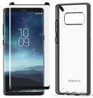 PureGear Black Clear Slim Shell Case + Tempered Glass for Samsung Galaxy Note 8