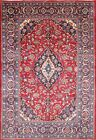Stunning Traditional Floral Room Size Kashmar Persian Hand Knotted Area Rug 7x10