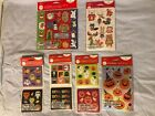 NEW SEALED LOT OF Halloween And Christmas Stickers 6 Packs