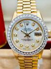 Estate ~ Rolex Ladies President 18k Gold Datejust Diamond Bezel