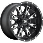 20x10 Black Fuel Throttle Wheels 5x150 12 Lifted TOYOTA SEQUOIA TUNDRA